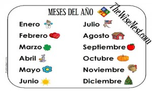 Months of the Year in Spanish - The Wise Nest