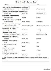 Star Spangled Banner Quiz